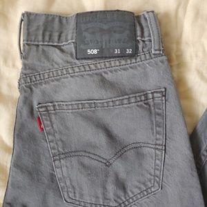 Men's Levi's 508 Gray 31 x 32 Red Tab